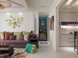 轻快东南亚风格150平米家居装修图片