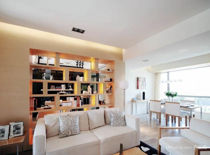 都市现代家居沙发背景装饰柜效果图