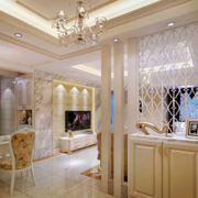 2016现代大户型欧式客厅鞋柜装修效果图