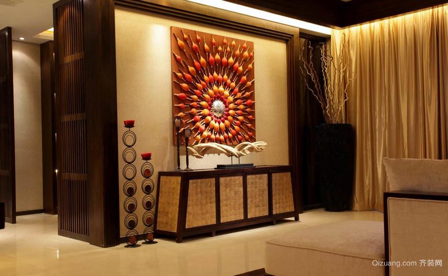 东南亚风格小家居客厅装饰柜效果图