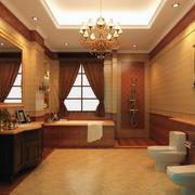 暖色调浴室飘窗设计