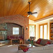 客厅生态木吊顶