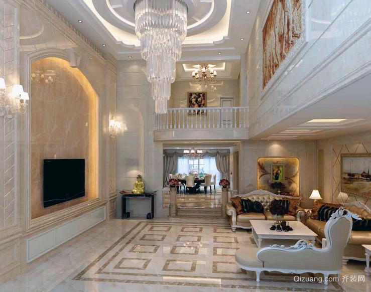 2016欧式现代实例型楼中楼实拍效果图小区-齐别墅装修别墅图片
