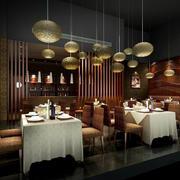 餐厅精美吊灯展示