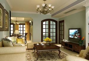 轻快新古典风格小户型客厅装修效果图