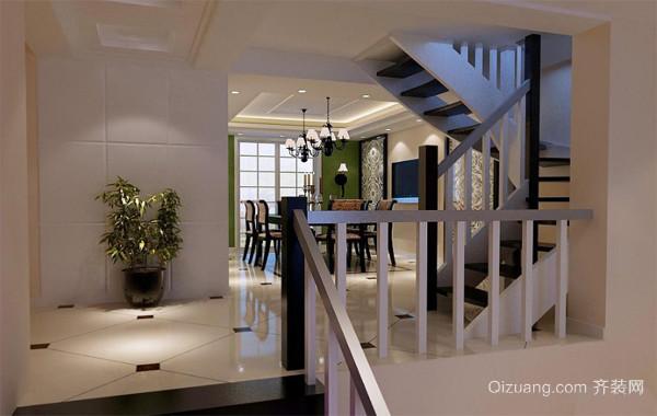 110平米大户型欧式实木楼梯装修效果图实例鉴赏