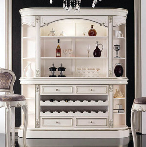 现代小复式楼优雅欧式酒柜效果图