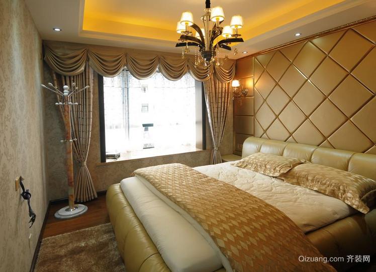 唯美的欧式大户型卧室软包背景墙装修效果图