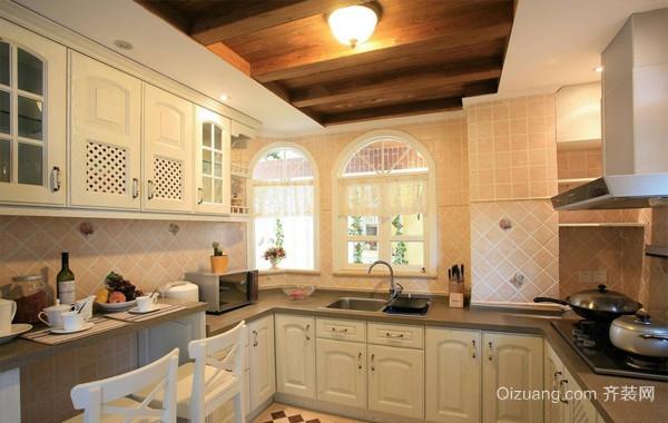 混搭田园139平米厨房橱柜设计效果图