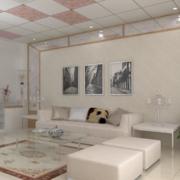 2016精美的大户型欧式沙发背景墙装修效果图