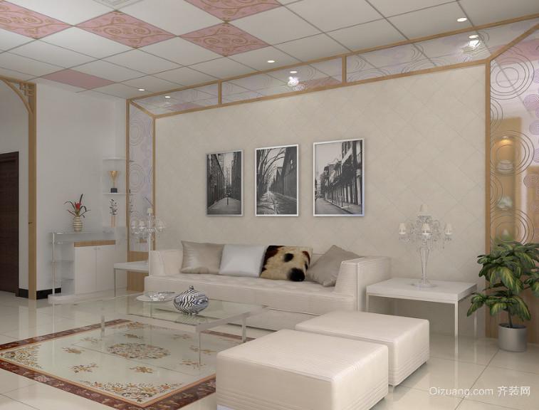 120平米大户型简约欧式卧室现代装修效果图