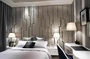 后现代风格小卧室软包背景墙图片
