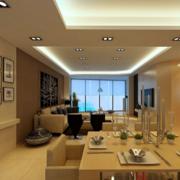 经济实惠的现代欧式大户型室内背景墙装修效果图