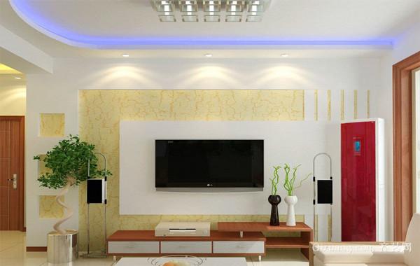 小户型现在简约欧式电视背景墙装修效果图鉴赏