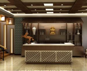 2016大户型现代唯美的餐厅吧台装修效果图