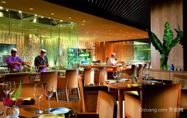 2016高级精致大型餐厅设计效果图