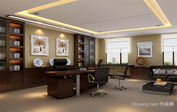 2016精致的办公室吊顶空间设计装修效果图