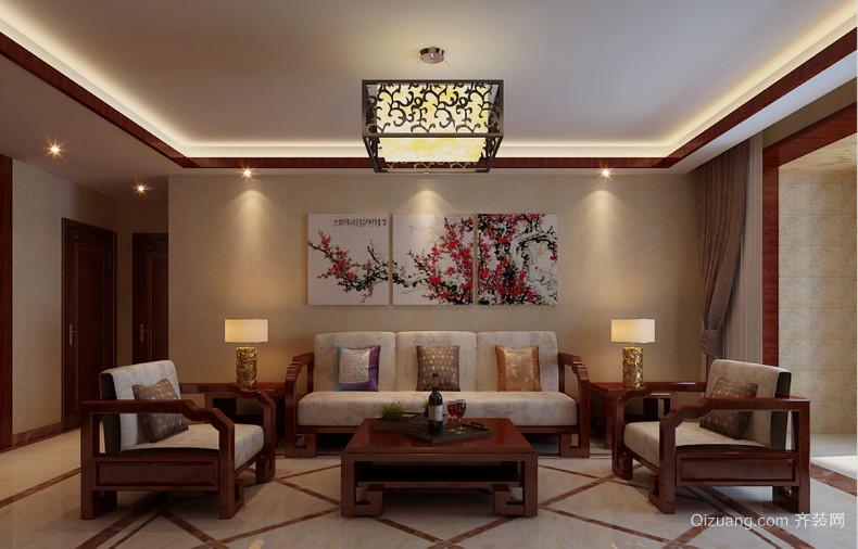 2016大户型精美的现代中式家装客厅装修效果图