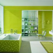 精美绿色浴室展示