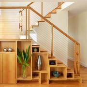 精美实木楼梯储物柜