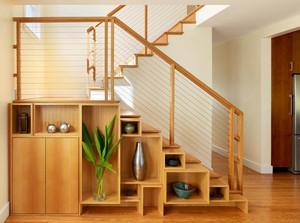 宜家小户型跃层楼梯储物间设计效果图片