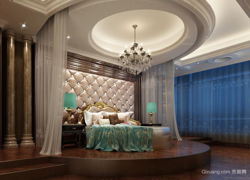 80平米小户型经典欧式卧室背景墙装修效果图