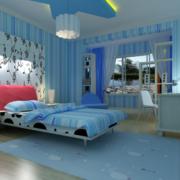 2016大户型地中海风格儿童房卧室装修效果图
