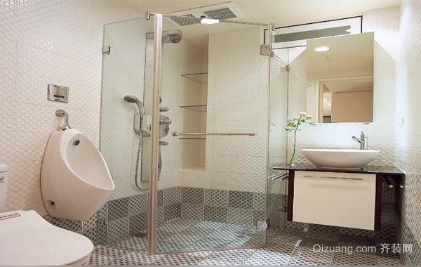 90平米大户型欧式精致的洗手间地砖装修效果图