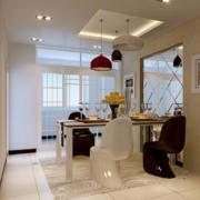 100平米大户型唯美的简约餐厅装修效果图