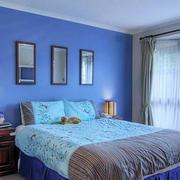 卧室蓝色墙面欣赏