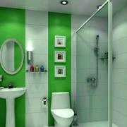 前卫清爽浴室图片