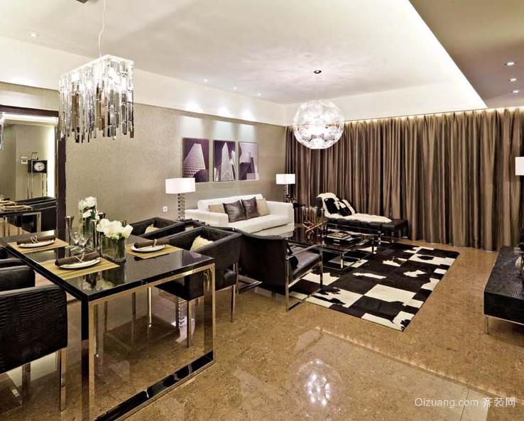 110平米大户型现代主义风格客厅背景墙装修效果图