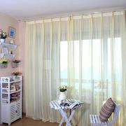简约单身女公寓家庭小阳台窗帘效果图
