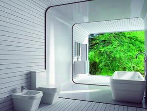 轻快56平米小户型浴室装修效果图