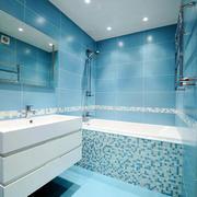 水蓝色浴室背景欣赏