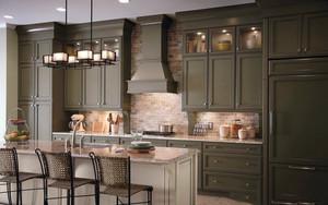美式气派大户型厨房橱柜设计效果图
