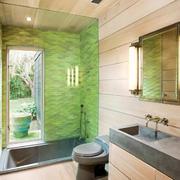 现代时尚小浴室