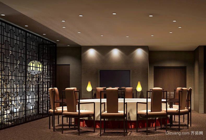 新中式古典韵味大户型餐厅设计效果图