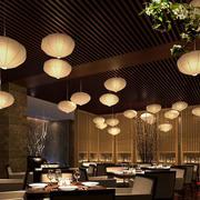 餐厅唯美吊灯展示