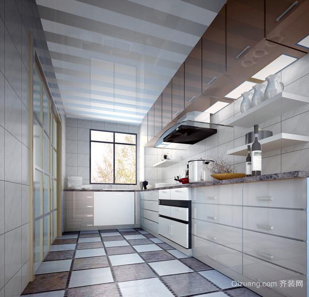 90平米大户型欧式厨房装修设计效果图鉴赏