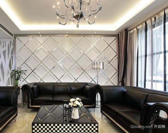 时髦现代公寓沙发软包背景墙图片