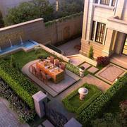 豪宅别墅清新庭院装修设计效果图