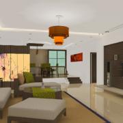2016大户型精致欧式两室一厅客厅装修效果图