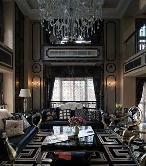 2016欧式唯美的别墅型客厅吊顶装修效果图