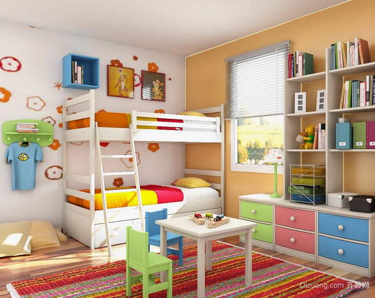 90平米大户型欧式儿童房高低床装修效果图实例