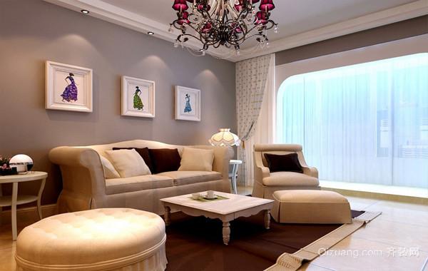 时髦现代100平米家居客厅装修效果图