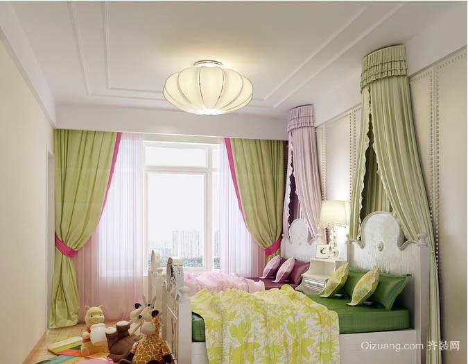 清新自然小户型家庭儿童房窗帘效果图