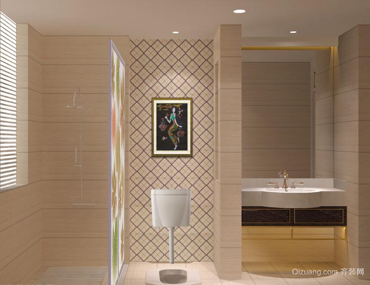 现代宜家欧式风格大户型卫生间隔断装修效果图