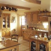 家居实木橱柜展示