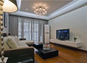 70平米小户型简单欧式客厅吊顶装修效果图实例